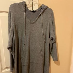 Hooded sweater tunic or dress